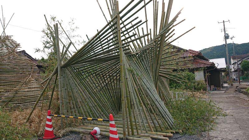 竹の構造物